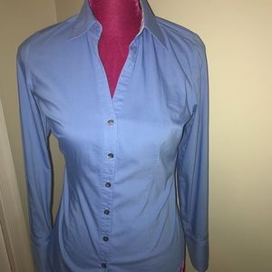 Express Career Shirt -Fitted Baby Blue